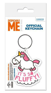 MOI MOCHE ET MECHANT PORTE CLE CAOUTCHOUC IT'S SO FLUFFY 6 CM