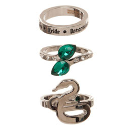 HARRY POTTER SET 3 ANNEAUX SLYTHERIN