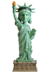FIGURINE STATUE OF LIBERTY BOBBLE HEAD 20 CM