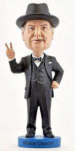 FIGURINE WINSTON CHURCHILL BOBBLE HEAD VERSION 2 20 CM