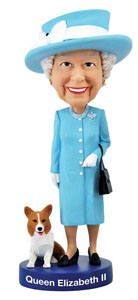 FIGURINE QUEEN ELIZABETH II BOBBLE HEAD 20 CM