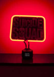 LAMPE NEON SUICIDE SQUAD LOGO 33 X 20 CM