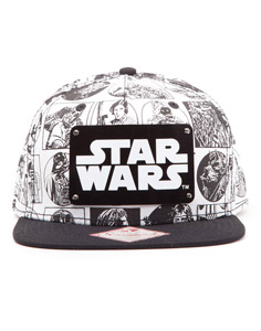 STAR WARS CASQUETTE HIP HOP SNAP BACK COMIC STYLE
