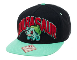 POKEMON CASQUETTE HIP HOP SNAP BACK BULBASAUR