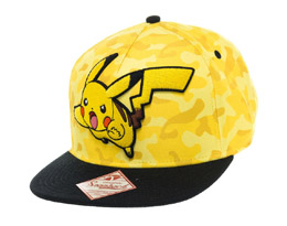 POKEMON CASQUETTE HIP HOP SNAP BACK PIKACHU CAMO