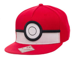 CASQUETTE HIP HOP POKEMON SNAP BACK 3D POKE BALL