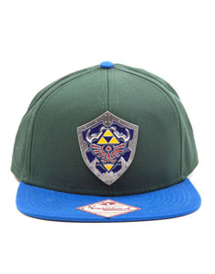 THE LEGEND OF ZELDA CASQUETTE SNAP BACK METAL SHIELD