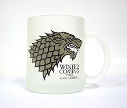 GAME OF THRONES STARK MUG VERRE GIVRÉ