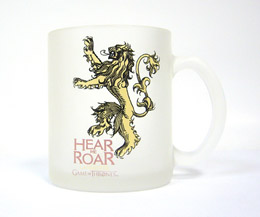 GAME OF THRONES LANNISTER MUG VERRE GIVRÉ