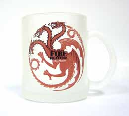 GAME OF THRONES TARGARYEN MUG VERRE GIVRÉ