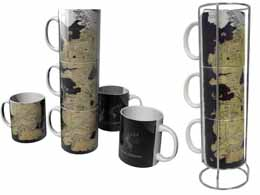 GAME OF THRONES SET 3 MUG CARTE WESTEROS