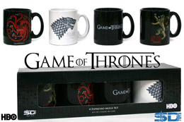 GAME OF THRONES COFFRET DE 4 MINI MUGS TASSES A EXPRESSO