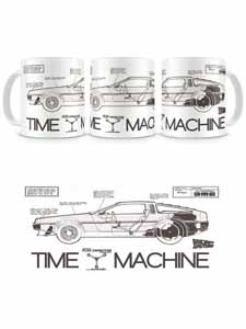 RETOUR VERS LE FUTUR MUG PLAN DELOREAN TIME MACHINE