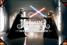 POSTER EN VERRE STAR WARS Darth VADER WHEN I LEFT YOU