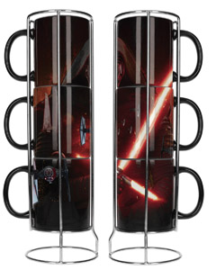 SET DE 3 MUGS STAR WARS EPISODE 7 SUPERPOSABLE KYLO REN