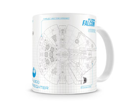 MUG STAR WARS EPISODE 7 BLUEPRINT MILLENIUM FALCON