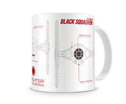 MUG STAR WARS EPISODE 7 BLUEPRINT BLACK SQUADRON
