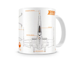 MUG STAR WARS EPISODE 7 BLUEPRINT X-WING