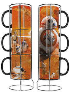 SET DE 3 MUGS STAR WARS EPISODE 7 SUPERPOSABLE BB-8