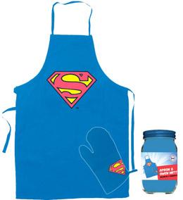 DC UNIVERSE PACK TABLIER ET GANT SUPERMAN