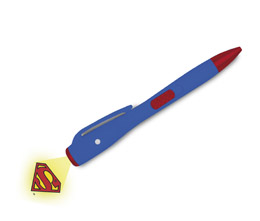 Photo du produit DC UNIVERSE STYLO LUMINEUX SUPERMAN LOGO