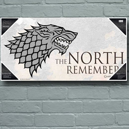 POSTER EN VERRE GAME OF THRONES NORTH REMEMBERS