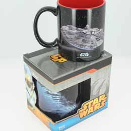 SW MUG CÉRAMIQUE MILLENIUM FALCON VS DEATH STAR