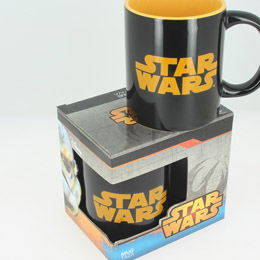 SW MUG CÉRAMIQUE LOGO STAR WARS NOIR ET ORANGE