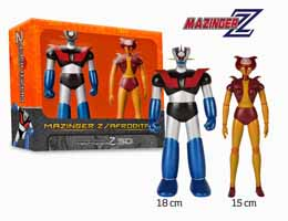 Photo du produit MAZINGER Z ET APHRODITE SET 2 FIGURINES VINYL 18CM