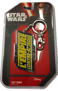 PORTE CLE METAL STAR WARS LOGO EMPIRE CONTRE ATTAQUE