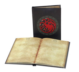 GAME OF THRONES NOTEBOOK LUMINEUX TARGARYEN