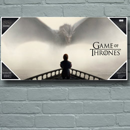 POSTER EN VERRE GAME OF THRONES TYRION & DRAGON