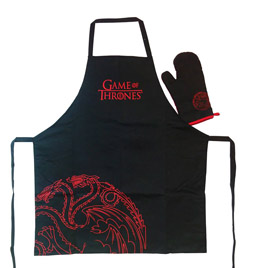 GAME OF THRONES SET TABLIER & GANT DE CUISINE TARGARYEN