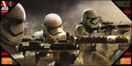 POSTER EN VERRE STAR WARS EPISODE 7 50X25CM STORMTROOPER BATTLE