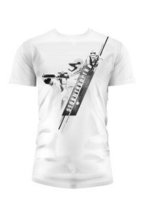 T-SHIRT HOMME STAR WARS EPISODE 7 STORMTROOPER BLASTER BLANC