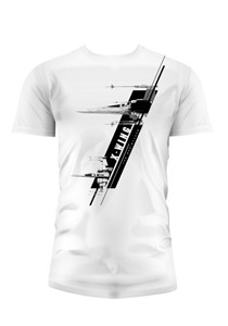 T-SHIRT HOMME STAR WARS EPISODE 7 X-WING BLANC