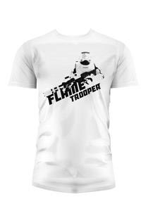 T-SHIRT HOMME STAR WARS EPISODE 7 FLAMETROOPER BLANC