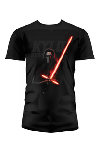 T-SHIRT HOMME STAR WARS EPISODE 7 KYLO REN LIGHTSABER