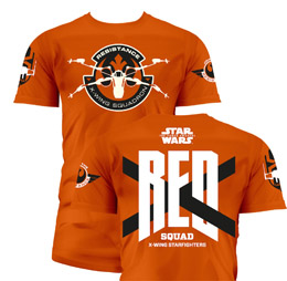 T-SHIRT HOMME STAR WARS EPISODE 7 RED SQUAD ORANGE