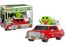 SDCC 2016 GHOSTBUSTERS RED ECTO-1 & SLIMER EXCLUSIVE
