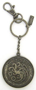 GAME OF THRONES PORTE-CLE METAL TARGARYEN SHIELD