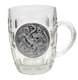 GAME OF THRONES TARGARYEN CHOPE VERRE ECUSSON METAL