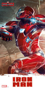 CAPTAIN AMERICA CIVIL WAR POSTER EN VERRE IRON MAN