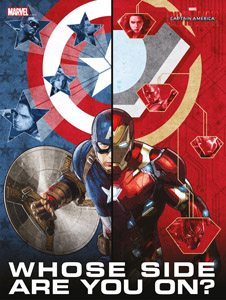 CAPTAIN AMERICA CIVIL WAR POSTER EN VERRE WHOSE SIDE ARE YOU ON
