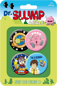 Dr Slump Pack de 4 badges Set B