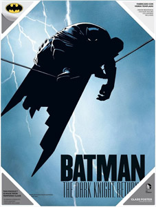 THE DARK KNIGHT RETURNS POSTER EN VERRE BATMAN