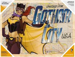 DC COMICS BOMBSHELLS POSTER EN VERRE GREETINGS FROM GOTHAM CITY