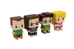 THE BIG BANG THEORY PACK 4 TRADING FIGURINES PIXEL SET 1 7 CM