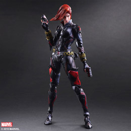 MARVEL COMICS VARIANT PLAY ARTS KAI FIGURINE BLACK WIDOW