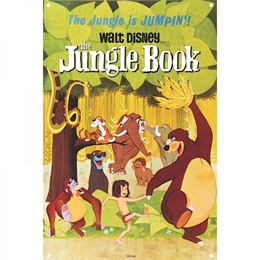 PLAQUE METAL DISNEY LE LIVRE DE LA JUNGLE CLASSIC